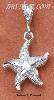 Sterling Silver DIAMOND CUT AND SATIN FINISH STARFISH
