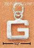 "Sterling Silver FINE LINED ""G"" CHARM"