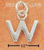 "Sterling Silver FINE LINED ""W"" CHARM"