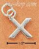"Sterling Silver FINE LINED ""X"" CHARM"