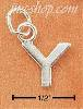 "Sterling Silver FINE LINED ""Y"" CHARM"