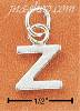 "Sterling Silver FINE LINED ""Z"" CHARM"