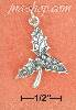 Sterling Silver ANTIQUED TRIPLE HOLLY LEAF WITH BERRIES CHARM (A