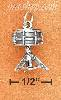 Sterling Silver 3D ANTIQUED SINGLE DRUM ON STAND CHARM