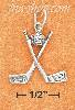 Sterling Silver ANTIQUED CROSSED GOLF CLUBS WITH BALL CHARM (APP