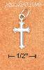 "Sterling Silver MINI 1/2"" CROSS CHARM WITH BRANCHED ENDS"