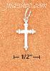 Sterling Silver TINY CROSS CHARM WITH 3 RAISED BEADS ON EACH TIP