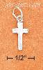 "Sterling Silver SMALL 5/8"" PLAIN SKINNY CROSS CHARM"