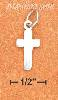"Sterling Silver SMALL 5/8"" PLAIN CROSS CHARM"