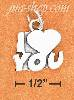 "Sterling Silver ""I HEART YOU"" CHARM"
