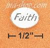"Sterling Silver 2 SIDED HIGH POLISH OVAL ""FAITH"" MESSAGE BEAD W"