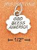 "Sterling Silver HIGH POLISH ""GOD BLESS AMERICA"" IN CLOUD CHARM W"