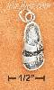 Sterling Silver ANTIQUED DOUBLE STRAP LEFT SANDAL CHARM