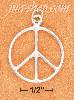 Sterling Silver 23MM HIGH POLISH PEACE SIGN CHARM