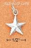 Sterling Silver HIGH POLISHED RAISED ANGLE STAR CHARM