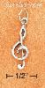 Sterling Silver ANTIQUED G CLEF CHARM