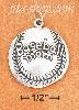 "Sterling Silver SLIGHTLY DOMED ""BASEBALL MOM"" CHARM"