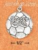 "Sterling Silver SLIGHTLY DOMED ""SOCCER MOM"" CHARM"