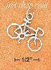 Sterling Silver HIGH BICYCLE CHARM SIDE VIEW