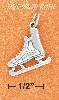 Sterling Silver 3D ANTIQUED HOCKEY ICE SKATE CHARM