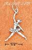 Sterling Silver ANTIQUED 3D LEAPING BALLERINA CHARM