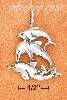 Sterling Silver ANTIQUED TRIPLE STACK DOLPHIN CHARM