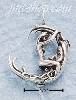 Sterling Silver LADY SWINGING ON THE MOON CHARM