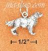 Sterling Silver 3D ANTIQUED GOLDEN RETRIEVER CHARM