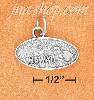 "Sterling Silver OVAL ANTIQUED ""HAWAII"" MAP CHARM"