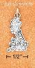 "Sterling Silver ANTIQUED ""GREAT BRITAIN"" MAP CHARM"