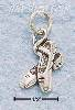 Sterling Silver ANTIQUED BALLET SLIPPERS CHARM