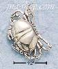 Sterling Silver SMALL ANTIQUED CRAB CHARM