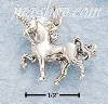 Sterling Silver PRANCING UNICORN CHARM