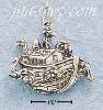 Sterling Silver ANTIQUED NOAH'S ARK CHARM