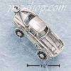 Sterling Silver CAR W/ MOVING WHEELS CHARM