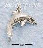 Sterling Silver MEDIUM HP DOLPHIN CHARM