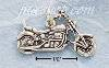 Sterling Silver ONE SIDED ANTIQUED MOTORCYCLE CHARM