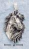 Sterling Silver HORSE HEAD W/ FLOWING MANE CHARM