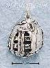 Sterling Silver ANTIQUED FIELDER'S GLOVE CHARM
