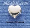 Sterling Silver HEART SHAPED SPACER BEAD