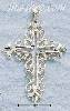 Sterling Silver LARGE DC OPEN FANCY FILIGREE CROSS