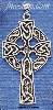 Sterling Silver LARGE ANTIQUED CELTIC CROSS CHARM