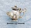 Sterling Silver SMALL 3D TEAPOT CHARM
