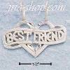 "Sterling Silver DC LARGE FLAT ""BEST FRIENDS"" MITZPAH"
