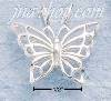Sterling Silver DIAMOND CUT OPEN BUTTERFLY