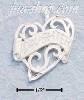 "Sterling Silver ""DAUGHTER"" BANNER IN FLAT HEART"