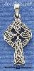 Sterling Silver SMALL ANTIQUED CELTIC CROSS CHARM