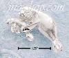 Sterling Silver DC MOTHER AND BABY MANATEE CHARM