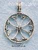 Sterling Silver ROUND OPEN CROSS CHARM
