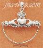 Sterling Silver CLADDAGH CHARM HOLDER